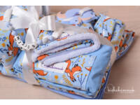 Maxi Kék Rókamóka  Babakelengye csomag (10 db termék)