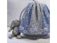 Kék-Szürke Prémium textil pelenka (3 db)