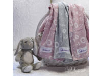 Rózsaszín-Szürke Prémium textil pelenka (3 db)