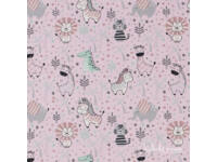 Rózsaszín Cuki Safari Babatörölköző
