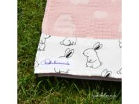 Rózsaszín Nyuszi-Hopp Kapucnis StrandTörölköző