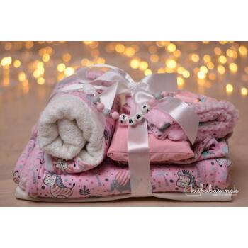 Maxi Rózsaszín Cuki-Safari Babakelengye csomag (10 db termék)