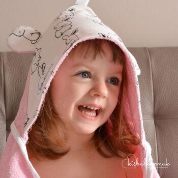 Rózsaszín Nyuszi-Hopp Kisgyermek Törölköző