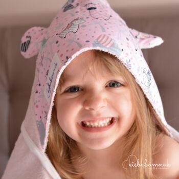 Rózsaszín Cuki Safari Kisgyermek Törölköző