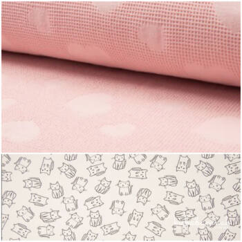 Rózsaszín Cicus Kapucnis StrandTörölköző