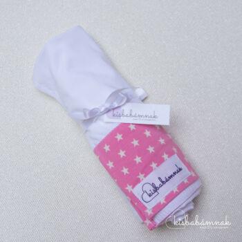 Fehér Rózsaszín kis csillagok nyári lepel