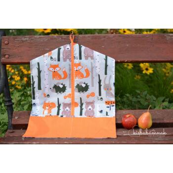 Erdei állatok ovis zsák (narancssárga)