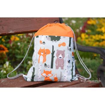 Erdei állatok tornazsák (narancssárga)