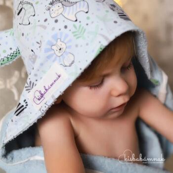 Kék Cuki Safari Kisgyermek Törölköző