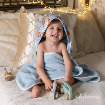 Kék Rókamóka Kisgyermek Törölköző