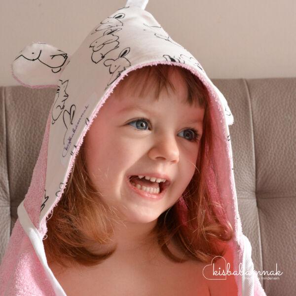 Rózsaszín Nyuszi-Hopp KisgyermekTörölköző