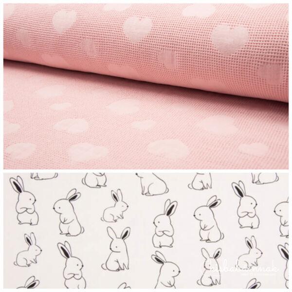 Rózsaszín Nyuszi-Hopp Kapucnis WellnessTörölköző