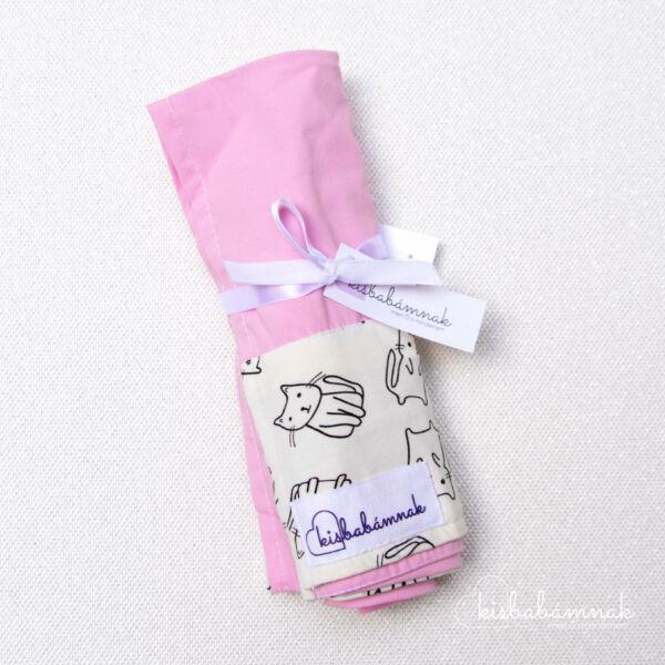 Rózsaszín Cicus nyári lepel