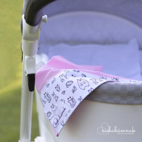 Rózsaszín fehér kerekerdő nyári lepel